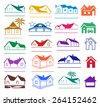 Buildings logo set isolated on white background, vector illustration - stock vector