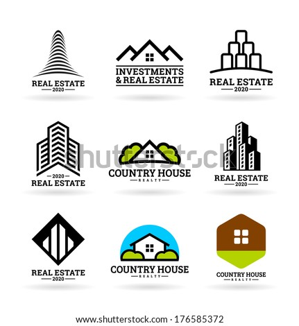 Buildings. Real estate (9) - stock vector