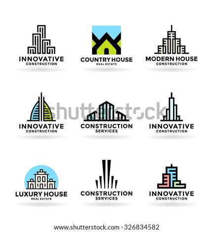 Buildings. Real estate (14) - stock vector