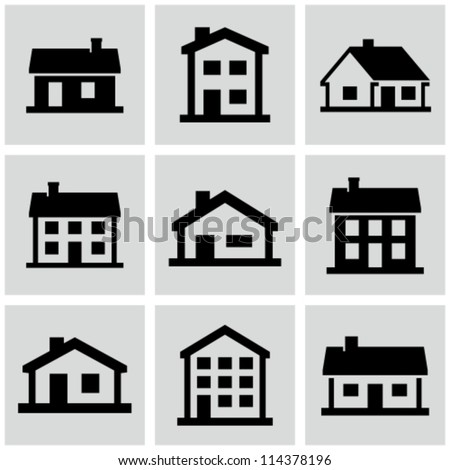 Buildings set. - stock vector