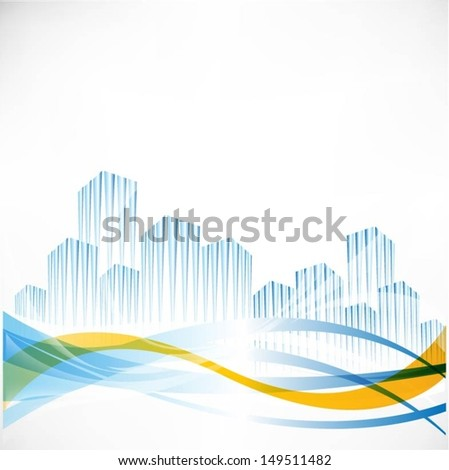 Buildings vector background - stock vector