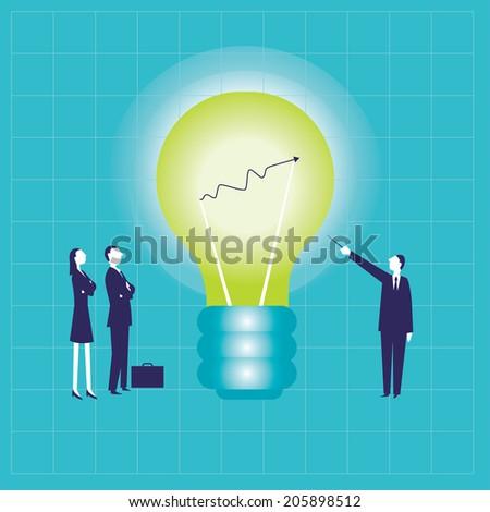 Bulb Chart - stock vector