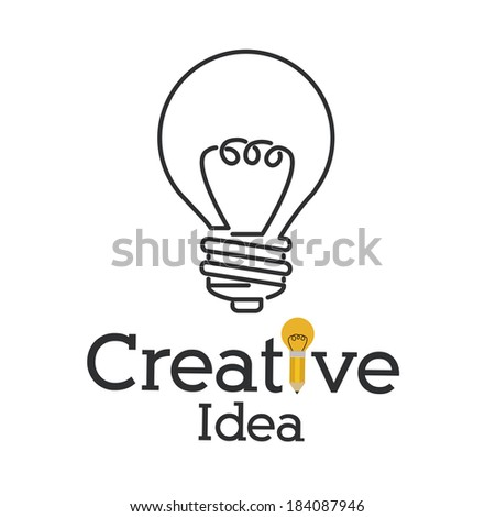 bulb design over white background, vector illustration