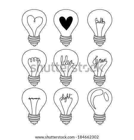 Bulb design over white background, vector illustration - stock vector