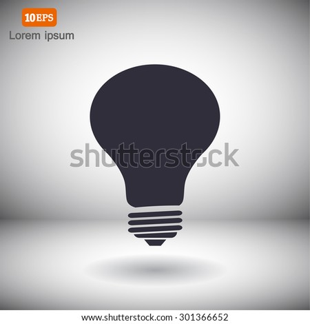 bulb  icon. Vector  Eps 10  - stock vector