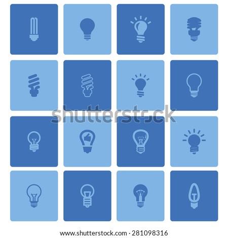 bulb icons - stock vector
