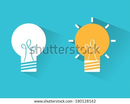 bulb idea design over blue background vector illustration - stock vector