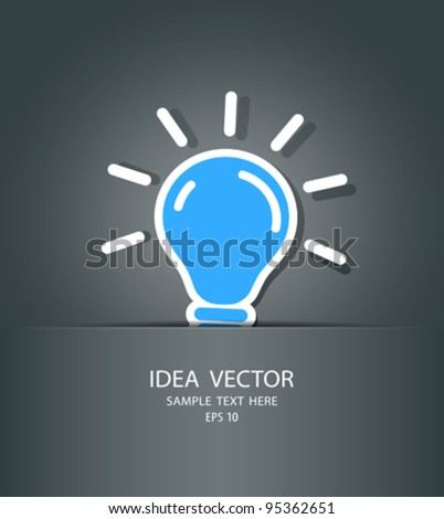 bulb idea in package, vector illustration - stock vector