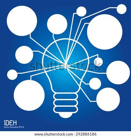 Bulb light idea concept. - stock vector