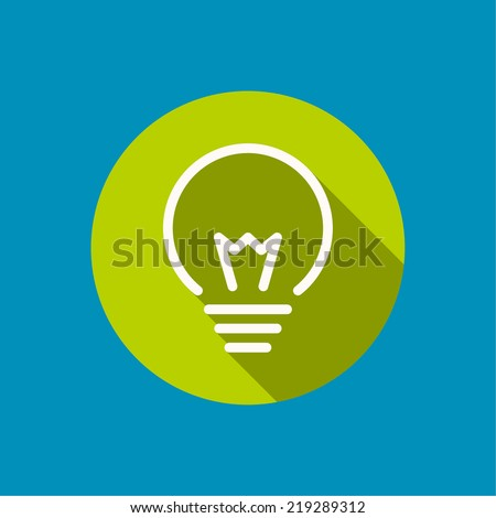 Bulb light idea. flat design, long shadow. concept  of ideas inspiration innovation, invention, effective thinking - stock vector