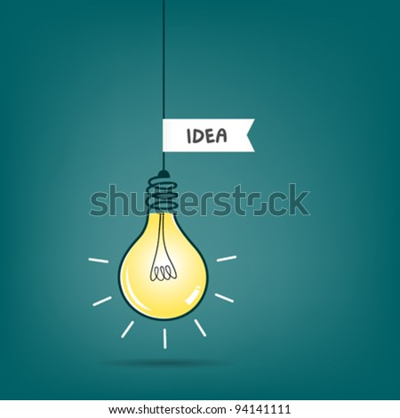 bulb light idea vector illustration - stock vector