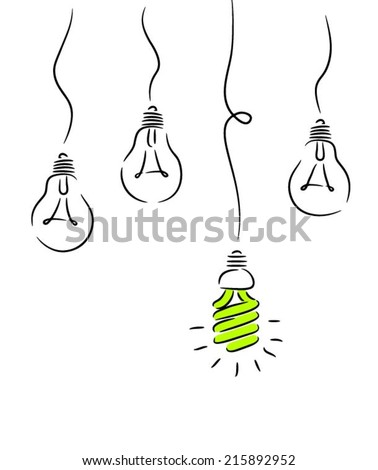 Bulb outstanding ecological - stock vector