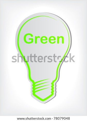 bulb sticker - stock vector