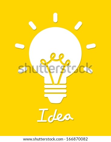 bulbs design over yellow background vector illustration - stock vector
