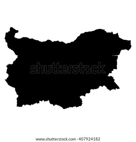 Bulgaria black map on white background vector - stock vector
