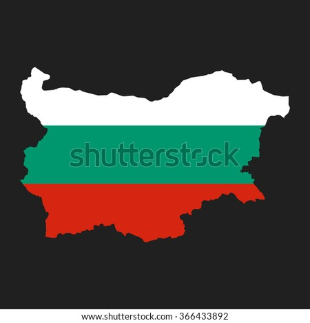 Bulgaria - map and flag