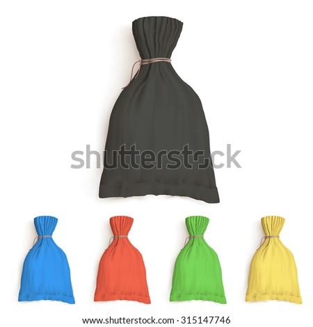 bulk bag, mockup template, packaging for bulk products - stock vector
