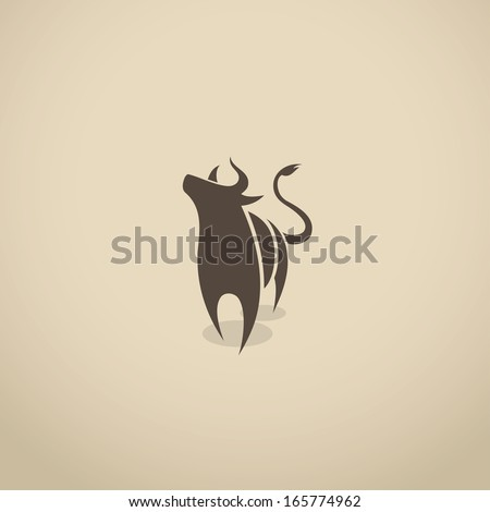 Bull icon - vector illustration - stock vector