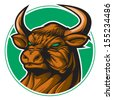 Bull representing Taurus zodiac sign or just a sharp vector graphic for general use. Layered and easy to edit. - stock photo