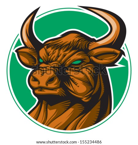 Bull representing Taurus zodiac sign or just a sharp vector graphic for general use. Layered and easy to edit. - stock vector