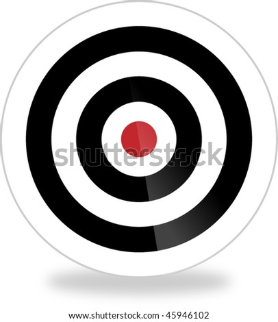 Bull's eye, target, aim - vector image with glossy effect - stock vector