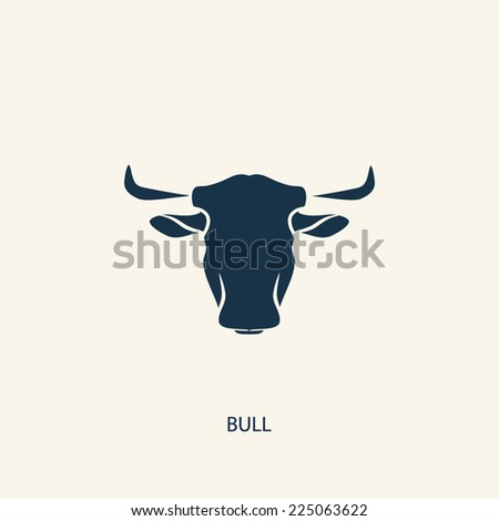 BULL SILHOUETTE illustration vector - stock vector