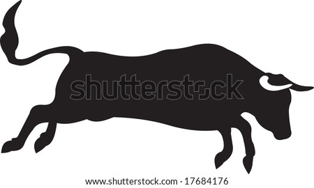 bull, vector - stock vector