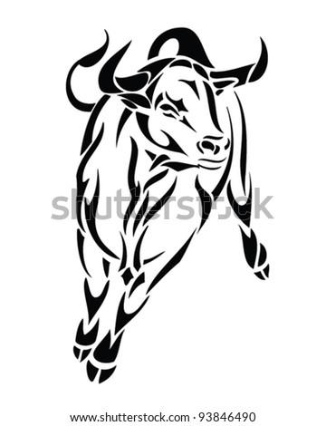bull - vector illustration - stock vector
