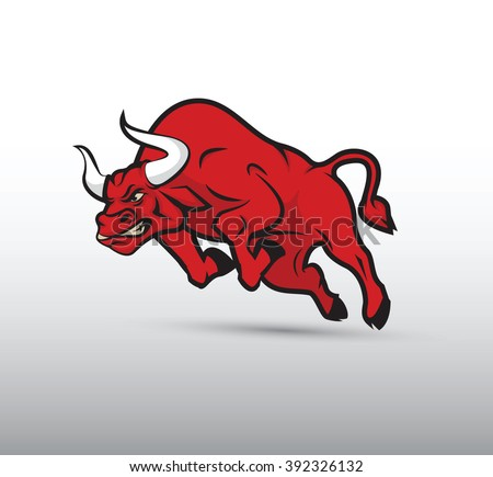 Bull, vector image - stock vector