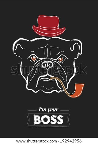 Bulldog - stock vector