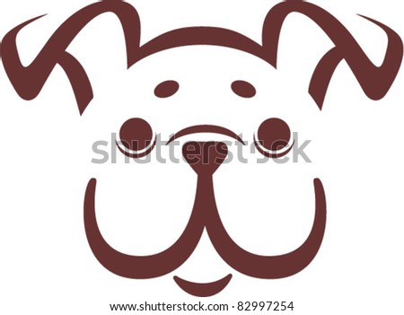 bulldog - stock vector