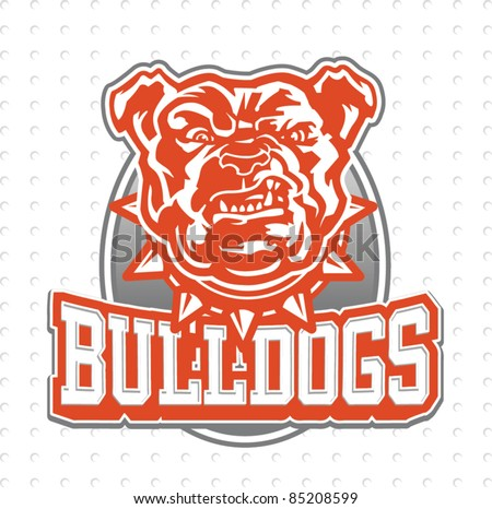 bulldog Mascot - stock vector