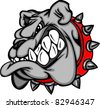 Bulldog Mascot Cartoon Face Illustration - stock vector