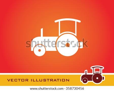 Bulldozer Icon. Eps-10. - stock vector