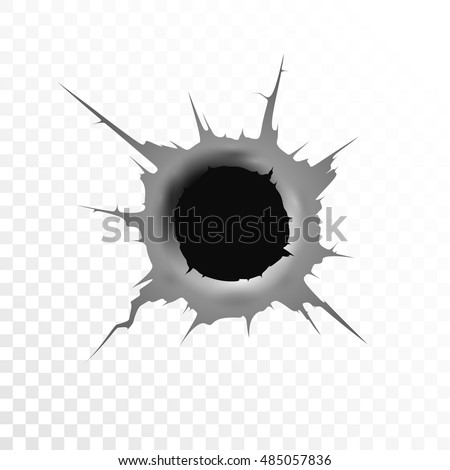 Bullet hole wood png