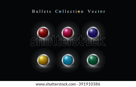 Bullets Collection Vector