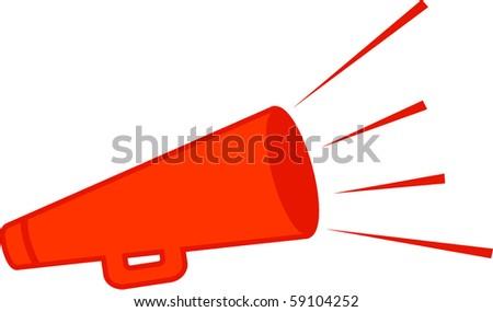 bullhorn - stock vector