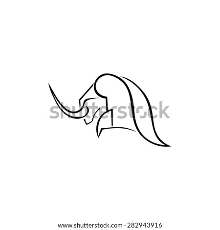Bulls elements for design isolated. Vector illustration. Sketch design for your farming - stock vector