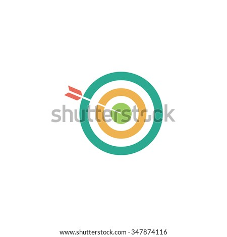 bullseye Color vector icon on white background  - stock vector
