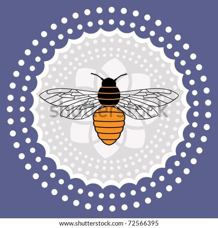 bumble bee - stock vector