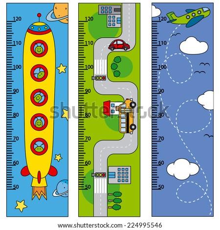 Bumper children meter wall  - stock vector