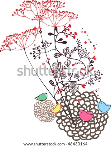 Bunch of flowers for Mother Day. - stock vector