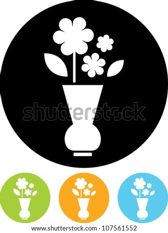 Bunch of Flowers - Vector icon isolated