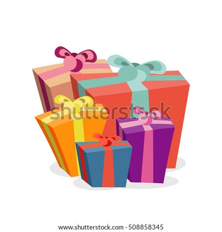 Bunch gift boxes merry christmas bright stock vector 508858345 bunch of gift boxes for merry christmas bright xmas present packages for holiday vector negle Choice Image