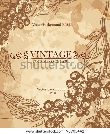 Bunch of grapes. Vector illustration. Eps 8. - stock vector