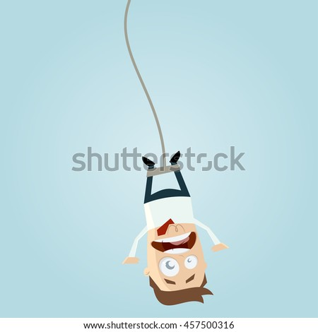 bungee jumping businessman