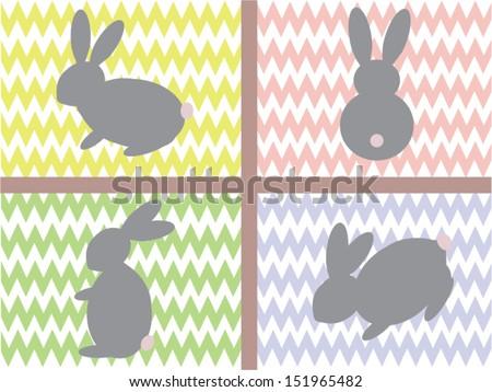 Bunnies - stock vector