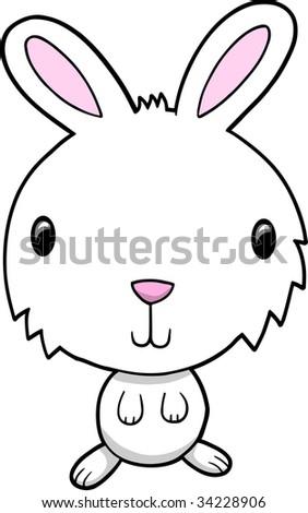 Bunny Rabbit Vector Illustration - stock vector