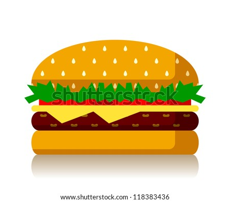 burger - stock vector