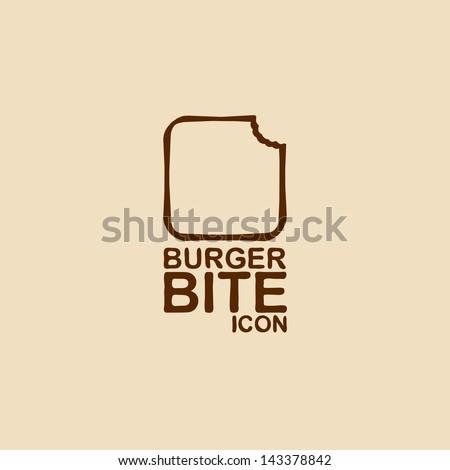 Burger bite icon. Vector illustration - stock vector